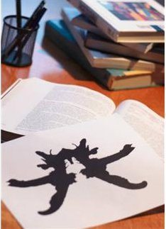 Rorschach test with books, writers.