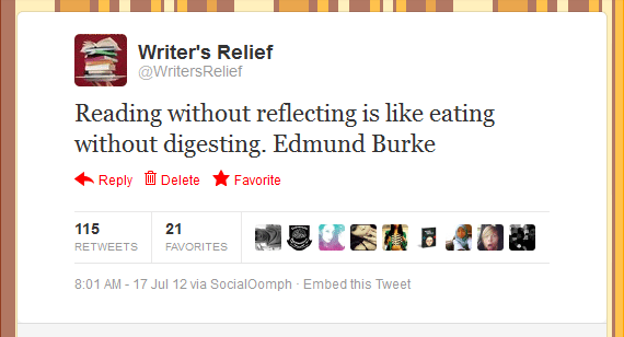Writer's Relief Tweet #5