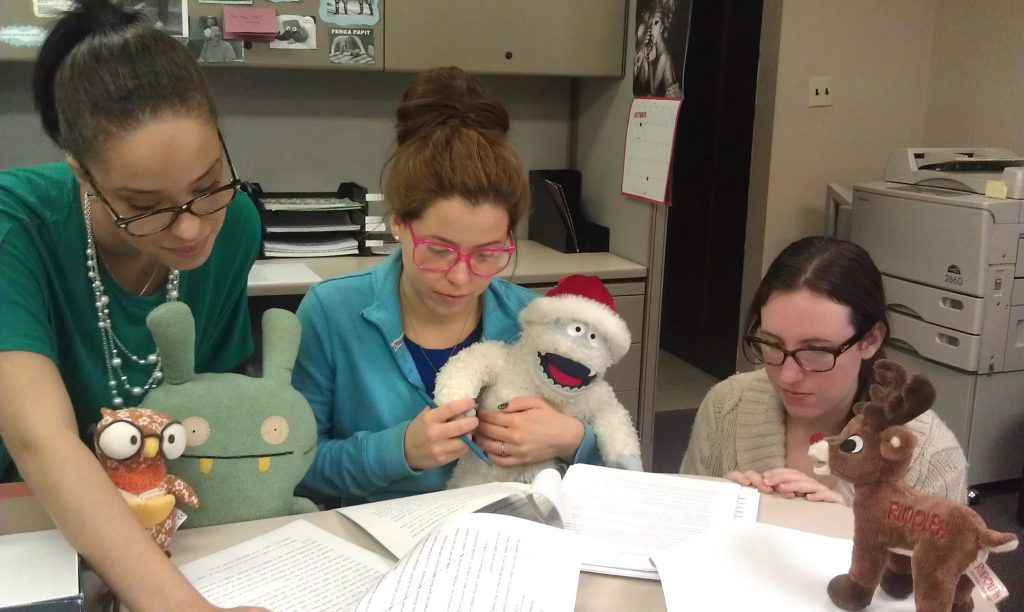 Writer's Relief Stuffed Animal Meeting